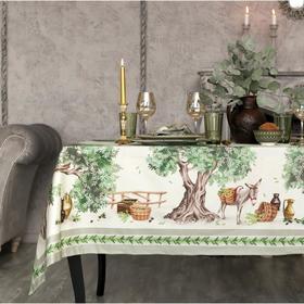 Набор столовый Этель Olivia, скатерть 110х145+/-3см, салфетки 40х40 см-4шт, 100% хл