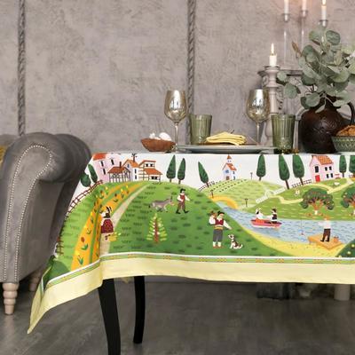 """Набор столовый """"Этель"""" Тоскана, скатерть 110х150 см, салф. 40х40 см-4шт, 100% хл"""