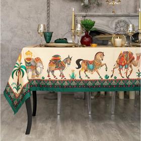 """Set table """"Ethel"""" new Delhi, table cloth 110 cm x 150 cm, salf. 40x40 cm-4pcs, 100% CL"""