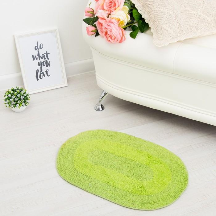 Ковер овальный «АНИКА», 40х60 ± 3 см, цвет зеленый.