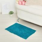 "Carpet ""SONATA"", 40x60 ± 3 cm, colour of a sea wave."