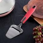 """Нож для сыра 24 см """"Трипл"""", ручка soft-touch, цвет красный"""