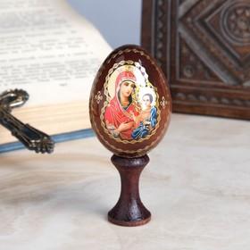 """Яйцо сувенирное """"Богоматерь Иверская"""", на подставке в Донецке"""