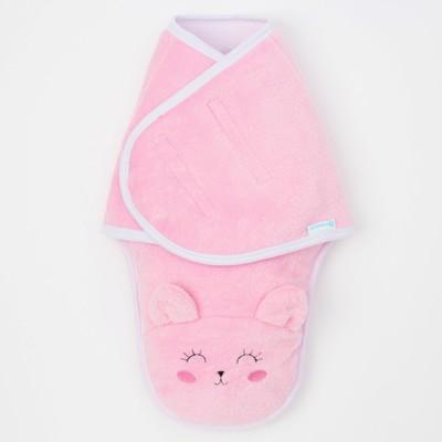 """Конверт-одеяло Крошка Я """"Кошечка"""", розовый, рост 50-56 см"""