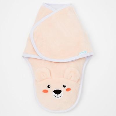 Конверт-одеяло Крошка Я «Белый мишка», бежевый, рост 50–56 см