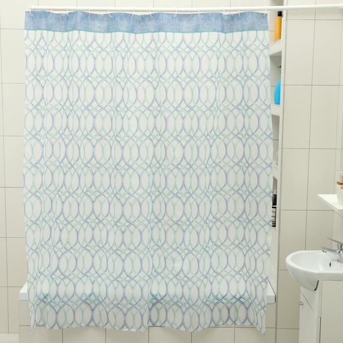 """Штора для ванной 180×180 см """"Лейла"""", EVA"""