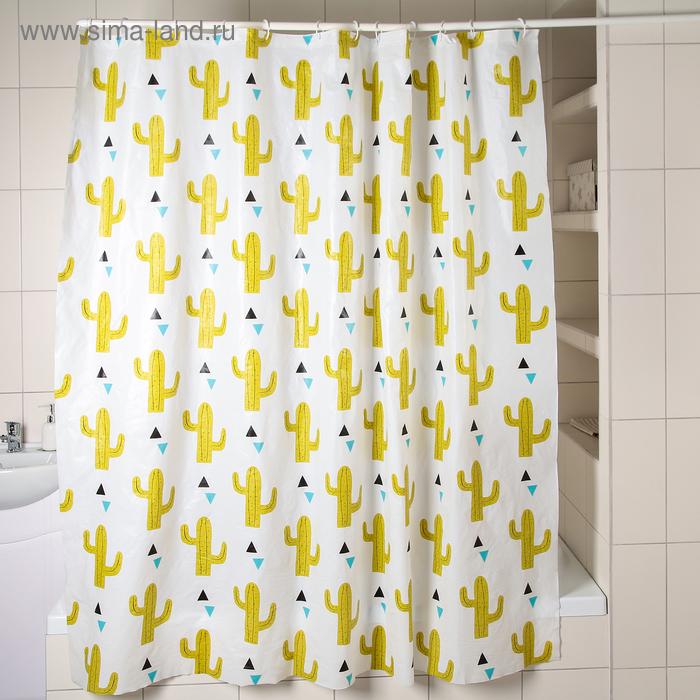 """Shower curtain 180×180 cm """"Cacti"""", EVA"""