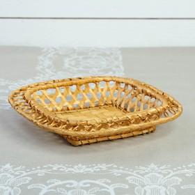 Хлебница «Плетёнка», 20×20×5 см, бамбук