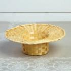 Корзинка «Шляпа», с ручкой, D=25 см, Н=7 см, бамбук