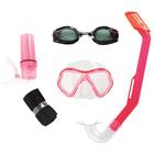 Набор для плавания Lil' Barracuda, маска, очки, трубка, от 3 лет, 24031 Bestway