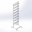 Stand for seed 440mm, with hooks of 3 mm, 8 tier, white