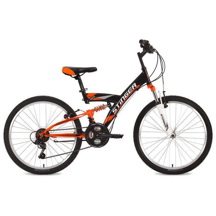 """Велосипед 24"""" Stinger Banzai, 2018, цвет чёрный, размер 16,5"""""""