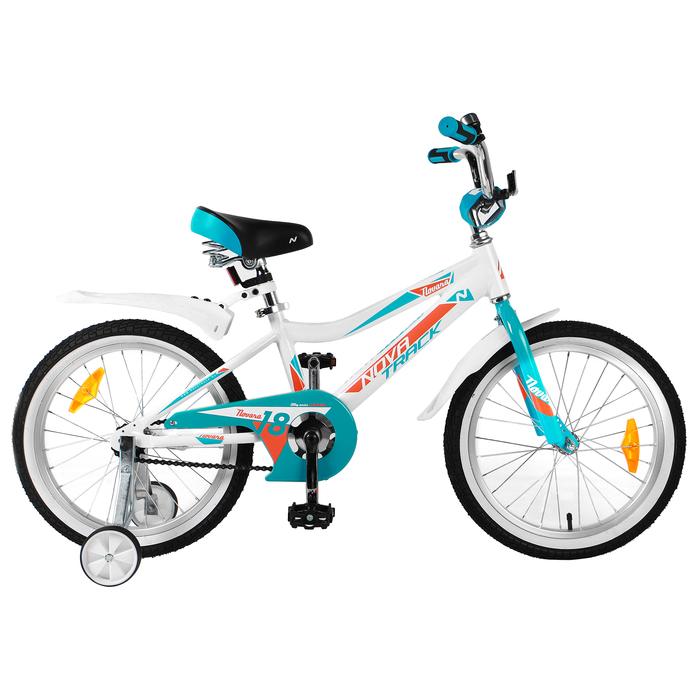 """Велосипед 18"""" Novatrack Novara, 2019, цвет белый"""