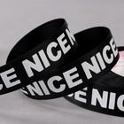 Лента репсовая «Nice», 25 мм, 22 ± 1 м, цвет белый/чёрный