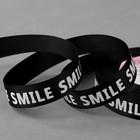 Лента репсовая «Smile», 20 мм, 22 ± 1 м, цвет белый/чёрный