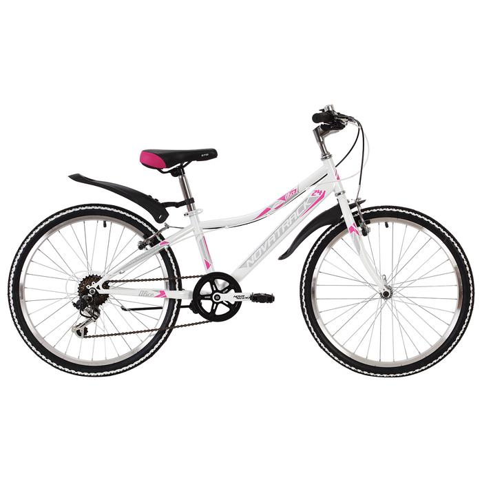 """Велосипед 24"""" Novatrack Alice, 2019, 6ск., цвет белый, размер 10"""""""