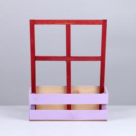 Кашпо флористическое с окном, лаванда, 15 × 9 × 25 см - фото 1547440