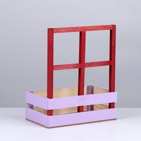 Кашпо флористическое с окном, лаванда, 15 × 9 × 25 см - фото 1547441
