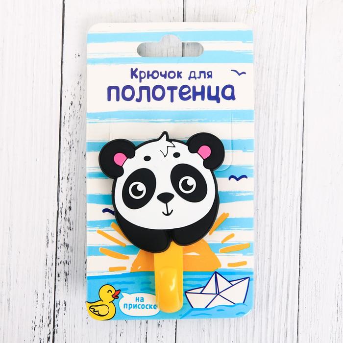 Крючок для полотенца «Панда», 9 х 5 см