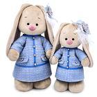 Мягкая игрушка «Зайка Ми» в голубом платье в клетку, 32 см - фото 105614145