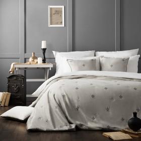 Комплект «Лилас»: покрывало 230 х 250 см, наволочки 45 х 45 см - 2 шт, серый