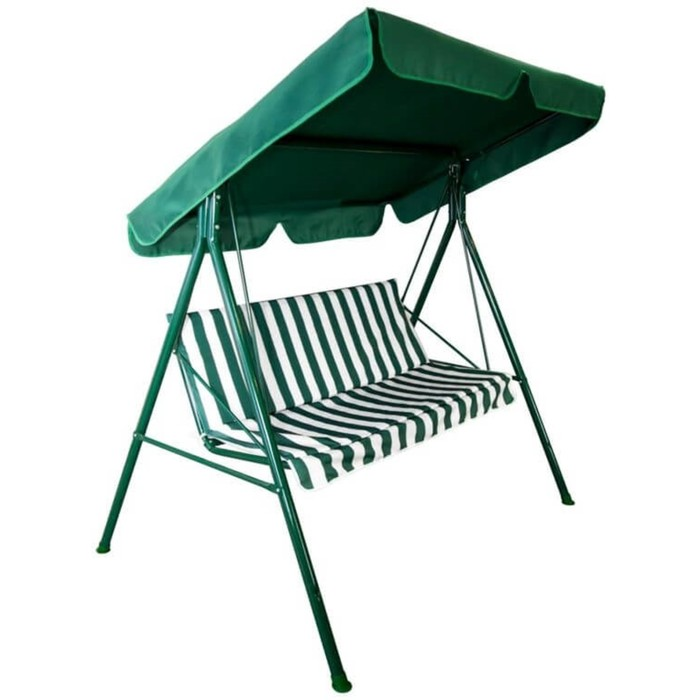"Качели садовые ""Адлер"" зелёные, 175 х 150 х 120см, максимальная нагрузка 150 кг"