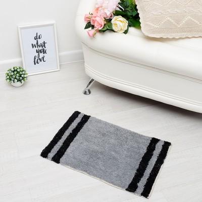 """Carpet """"DEVI"""", 40x60 ± 3 cm, the color gray."""