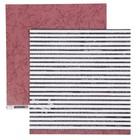 Бумага для скрапбукинга Pink Paislee - Коллекция «AUBURN LANE» - Лист «PAPER 08»