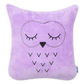 Подушка Крошка Я «Сова фиолетовая», 48 × 38 см, велюр, 100 % п/э