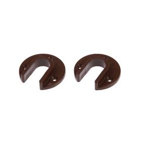 Штангодержатель накладной TUNDRA krep, коричневый, 2 шт. Ош