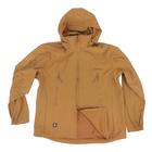 Спортивная кофта с капюшоном и длинными рукавами на молнии желтый, размер L