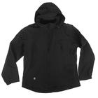 Спортивная кофта с капюшоном и длинными рукавами на молнии черный, размер L