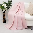 Плед вафельный Этель Waves 140х200 ± 5 см, 235г/м, розовый, хлопок 100%