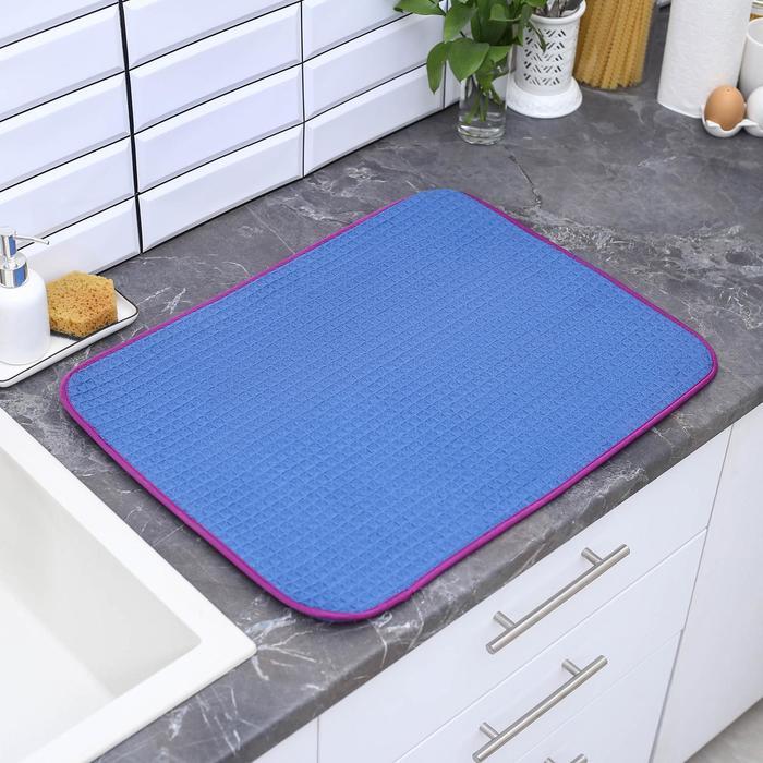 Салфетка кухонная из микрофибры 61×47 см, цвет МИКС