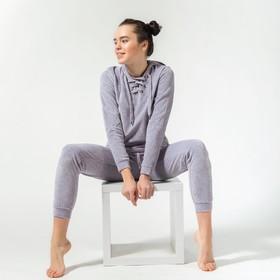 Брюки спортивные женские MINAKU, размер 50, цвет серый