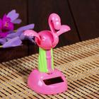 """Pendulum plastic solar cells """"Pink flamingos"""" 12x7,5x6 cm"""
