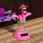 "Pendulum plastic solar cells ""Flamingos on vacation"" 12x7,5x6 cm"