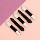 A set of applicators for eye shadow, 5 PCs, 5 cm, color black