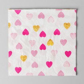 "Napkin ""Hearts"" 25*25cm (set of 20 PCs)"