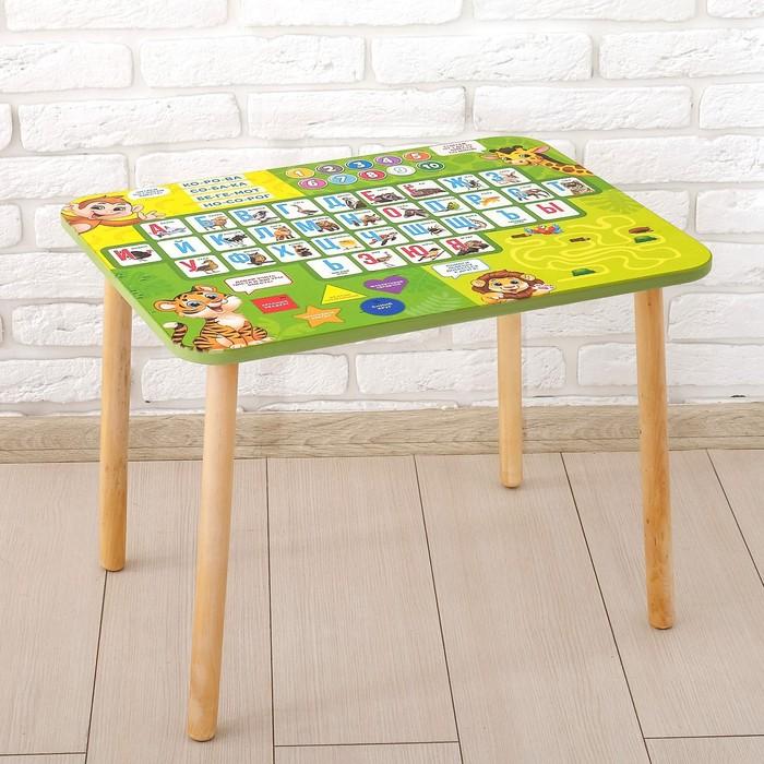 Стол с деревянными ножками «Алфавит 6»
