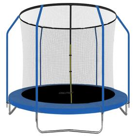 Батут 8 ft, d=244 см, с внутренней защитной сеткой и лестницей, синий