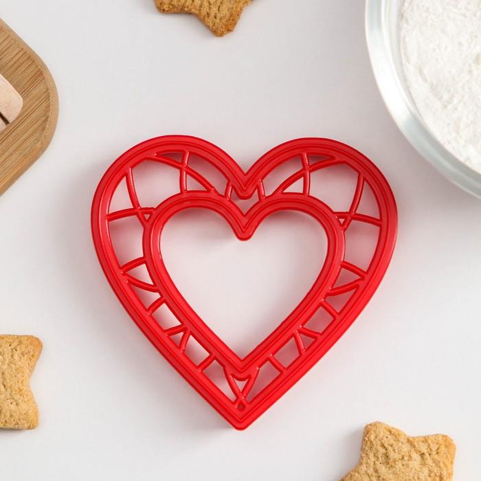 Форма для вырезки теста Леденцовая фабрика «Сердце» - фото 308033666