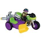 Фигурка «Черепашки-ниндзя Донни с мотоциклом, серия Half Shell Hero»