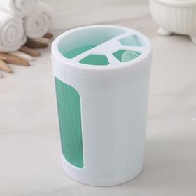 Подставка для зубных щёток Scarlet, цвет прозрачно-мятный