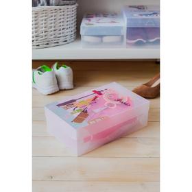 Короб для хранения с крышкой «Париж», 18,5×29,5×9,5 см, цвет прозрачный