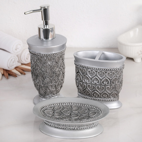 """Set of accessories for the bathroom, 3 of the subject """"Placer"""""""