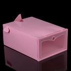 Короб для хранения 22х31х13 см, цвет розовый
