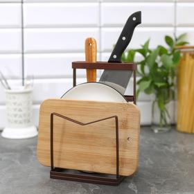 {{photo.Alt || photo.Description || 'Подставка для ножей и разделочных досок Доляна «Лофт», 13,5×12,5×21,5 см'}}