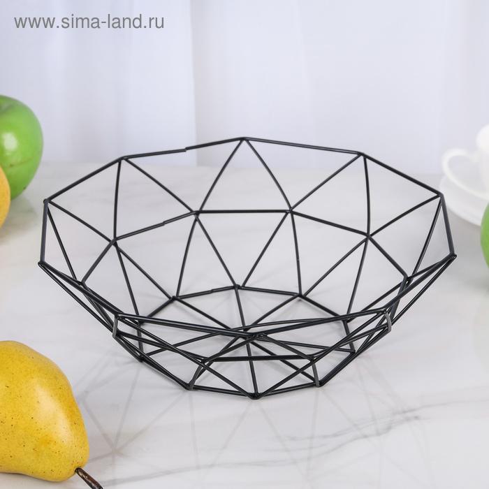 """Ваза для фруктов 25х25х8 см """"Геометрия"""", цвет МИКС"""