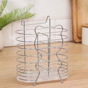 Сушилка для столовых приборов Доляна «Медвежонок», d=1,5 см, 16,5×11,5×17,5 см, цвет МИКС